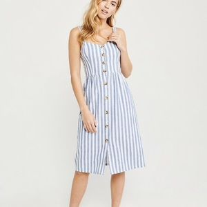 Abercrombie Button-up Cami Midi Dress XS